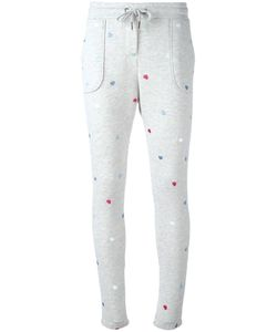 Zoe Karssen | Embroidered Heart Track Pants Small Cotton/Polyester