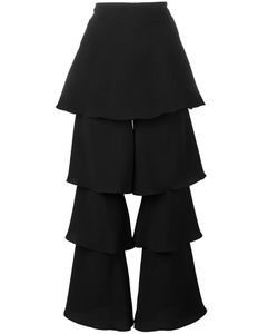 OSMAN | Tiered Cropped Trousers 12 Viscose/Triacetate/Polyester