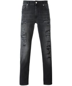 Alexander McQueen | Distressed Slim-Fit Jeans 48 Cotton/Spandex/Elastane