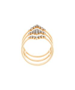 Yannis Sergakis | Triple Stacked Diamond Charnières Ring