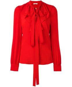 Sonia Rykiel | Jabot Neck Tie Blouse 38 Silk