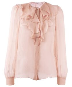Sonia Rykiel | Jabot Blouse 38 Silk/Triacetate/Polyester