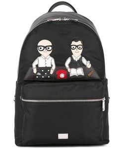 Dolce & Gabbana | Volcano Designers Patch Backpack Nylon/Leather