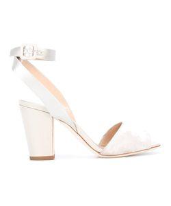 Giuseppe Zanotti Design | Block Heel Sandals 38 Velvet/Leather