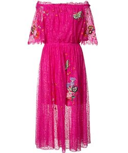 Temperley London | Butterfly Patch Flared Dress 4 Nylon