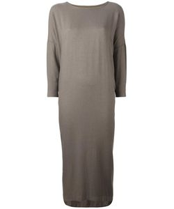 Black Crane | Cocoon Dress Large Rayon/Wool