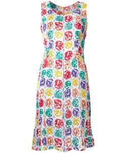 Chanel Vintage | Sleeveless Print Dress 38