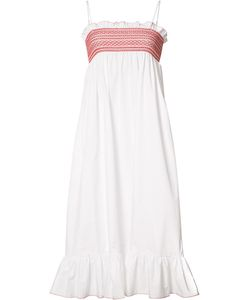 Lisa Marie Fernandez | Pleat Trim Flared Dress 1