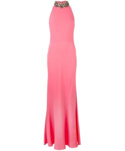 Alexander McQueen | Embellished Crepe Gown 44 Silk/Viscose/Acetate/Plastic