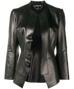 Alexander McQueen | Leather Peplum Jacket 44 Cotton/Lamb Skin