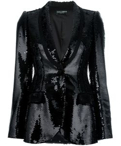 Dolce & Gabbana | Sequinned Blazer 42 Polyester/Silk/Spandex/Elastane
