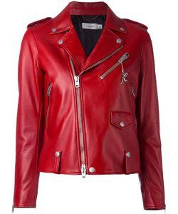 COACH | Studded Detailing Biker Jacket Size 6 Viscose/Lamb Skin