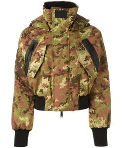 Dsquared2 | Ski Camouflage Bomber Jacket 40 Polyamide/Polyester/Viscose/Goose Down