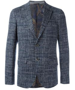 Etro | Woven Button Blazer 48 Cotton/Silk/Cupro