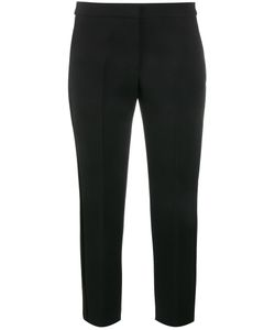 Alexander McQueen | Cropped Tailored Trousers 44 Wool/Silk/Cupro