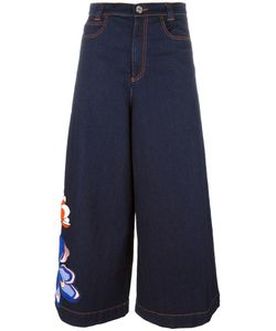 See By Chloe | See By Chloé Flower Patch Denim Culottes 28