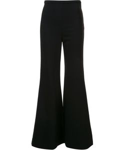 ROSETTA GETTY   Tailored Flared Trousers 6 Silk/Viscose/Spandex/Elastane