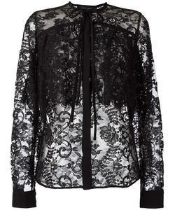Elie Saab | Pussybow Lace Shirt 36 Cotton/Polyamide/Silk