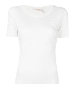 See By Chloe | See By Chloé Guipure Embroidered T-Shirt Small Cotton