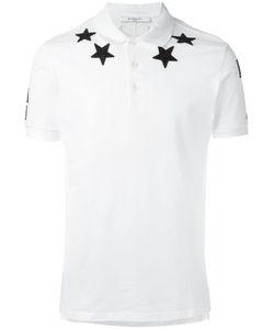 Givenchy   Cuban-Fit Star Appliqué Polo Shirt Large Cotton