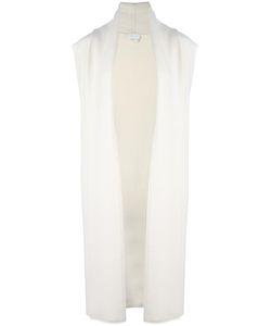 DKNY | Long Sleeveless Cardigan Medium Nylon/Cashmere