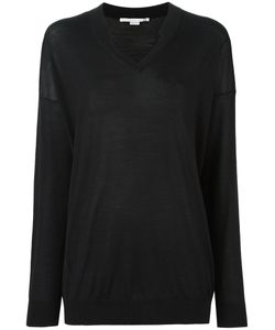 Stella Mccartney | Ridged V-Neck Jumper 40 Silk/Virgin Wool