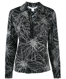 Diane Von Furstenberg | Stylised Print Blouse 8 Silk/Spandex/Elastane