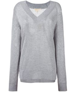 Michael Michael Kors | Perforated Detail Sweatshirt Medium Nylon/Polyester/Viscose/Cashmere