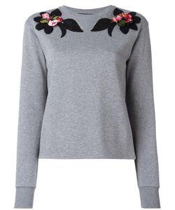 Dolce & Gabbana | Embroidered Flower Sweatshirt 42 Cotton