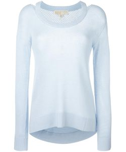 Michael Michael Kors | Perforated Detail Jumper Small Viscose/Nylon/Polyester/Cashmere