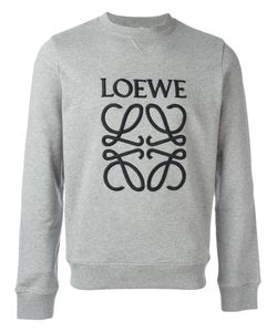Loewe   Logo Embroidered Sweatshirt Medium Cotton