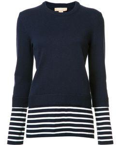 Michael Kors   Stripes Detail Ribbed Trim Sweatshirt Small