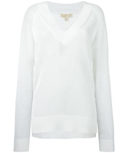 Michael Michael Kors | Perforated Detail Sweatshirt Small Nylon/Polyester/Viscose/Cashmere