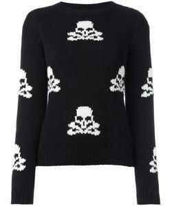 Ermanno Scervino | Skull Pattern Jumper 40 Cashmere/Virgin Wool