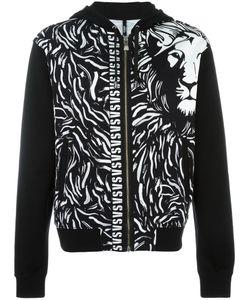Versus | Lion Print Hooded Cardigan Medium Cotton