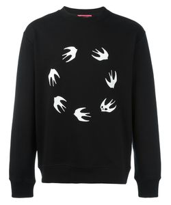 Mcq Alexander Mcqueen | Birds Print Sweatshirt Medium Cotton/Polyester