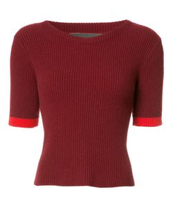 The Elder Statesman | Bicolour Knitted T-Shirt Small Cashmere