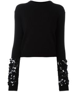 Mcq Alexander Mcqueen | Embellished Sleeve Jumper Medium Wool