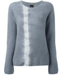 SUZUSAN | Tie Dye Stripe Jumper Large Cashmere