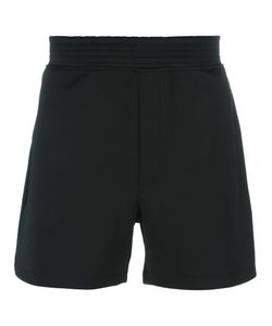 Versus | Logo Patch Track Shorts Medium Cotton/Polyester/Spandex/Elastane