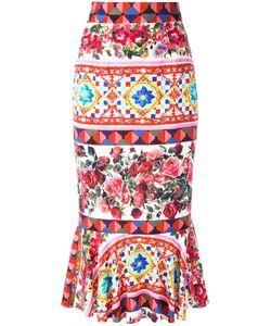 Dolce & Gabbana | Mambo Print Peplum Skirt 48