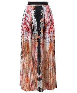 Roberto Cavalli | Print Pleated Skirt 44 Silk
