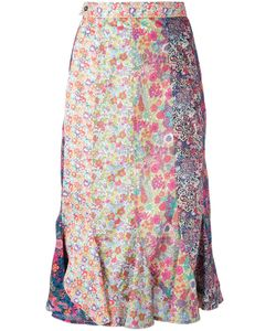 Olympia Le-Tan | Print Midi Skirt 36 Cotton