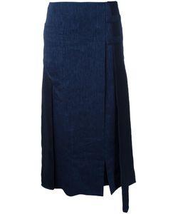 Christopher Esber | Vertical Belted Vent Skirt 8 Linen/Flax/Viscose