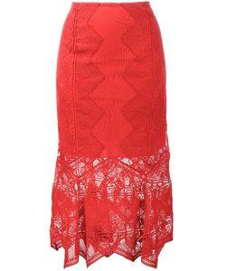 Jonathan Simkhai   Lace Mid-Length Skirt 4 Polyester/Silk/Spandex/Elastane/Nylon