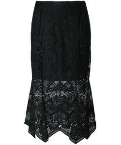 Jonathan Simkhai   Pointy Macramé Skirt 8 Polyester/Spandex/Elastane/Silk/Nylon
