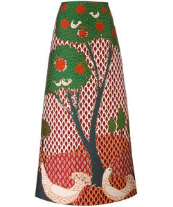 Red Valentino | Embroide Tree Maxi Skirt 40 Polyester