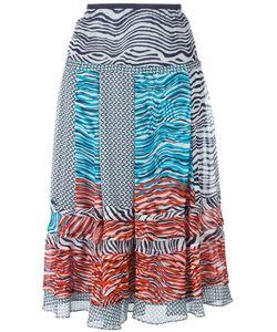 Diane Von Furstenberg | New Wave Pattern Skirt Large Silk/Polyester