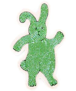 Olympia Le-Tan   Beaded Bunny Velcro Patch Wool Felt/Plastic