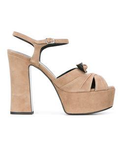 Saint Laurent | Candy 80 Bow Sandals 38 Suede/Leather